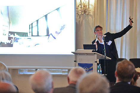 Jahresveranstaltung 2014 Frau Prof. Dr. Spies während ihres Vortrags Foto: Markus Scholz/Leopoldina