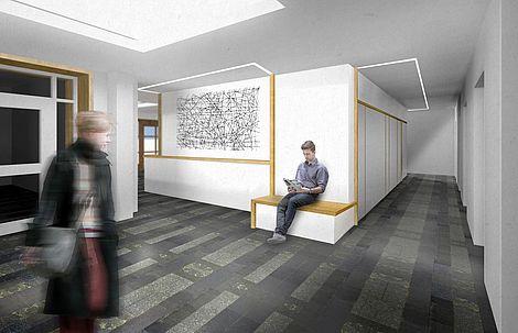 Umbau des Leopoldina Gebäudes 2015 Architektenentwurf des Foyers