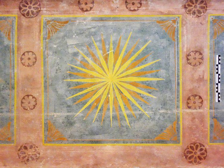 Rekonstruktion des historischen Ritualraums 2017 Sechszehnstrahliger Stern - Lichtsymbol