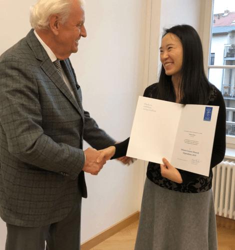 Johann-Lorenz-Bausch-Stipendium 2019 verliehen.