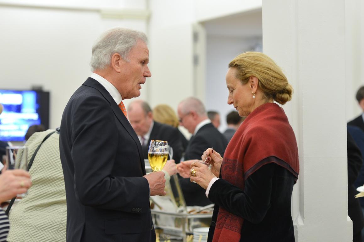 Klaus von der Heyde im Gespräch mit Sabine von Schorlemer Foto: Markus Scholz